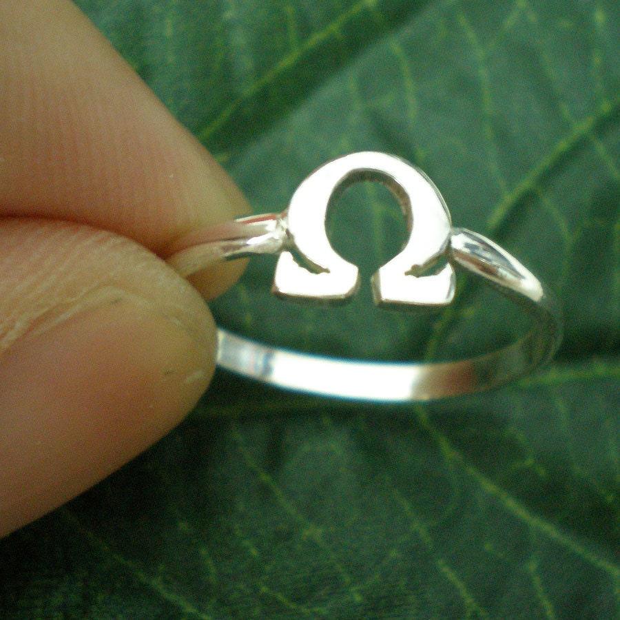 Greek omega symbol ring greek symbol jewelry math geek zoom biocorpaavc