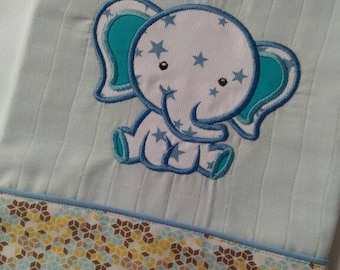 "White cotton diaper ""elephant"""