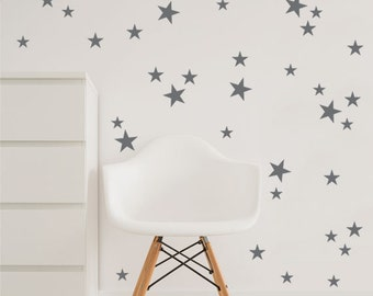 Star Wall Decal, 3 Size Stars Decal Set, Kids wall decoration, Nursery Wall Decal