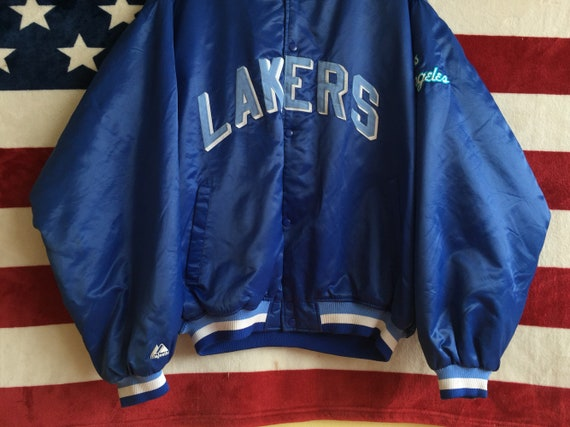 Lakers Hardwood Jacket Nba Colour Classic Varsity Vintage Jacket Lakers Nba Blue XXL Lakers Jacket Jacket 90s Varsity Lakers Majestic Nba p5xw18qP7