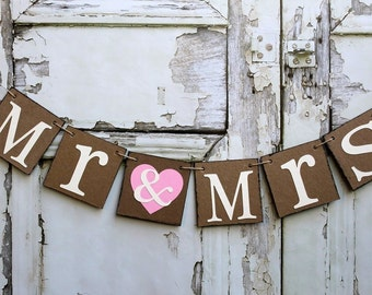 SWEETHEART TABLE BANNERS - Wedding reception signs - Rustic Barn wedding decorations