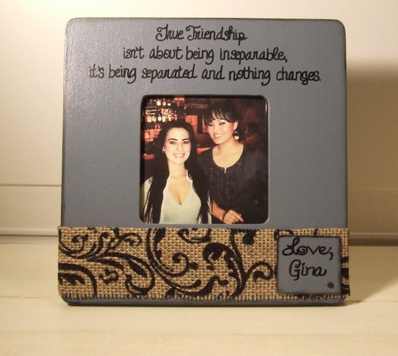 Personalized frame Best Friend Gift True Friendship frame Going Away ...