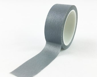 Solid Grey Washi Tape // 15mm // Paper Tape // BBB Crafting Supplies // CR-W-L073