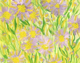 Original painting: Michaelmas Daisies