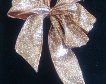 Coppery Colored Hair or Package Bow
