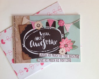 Double card, made, 3D, all occasions