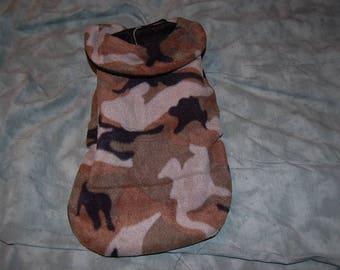 Fleece Dog Coat made with Camo Fleece Fabric--Choice of Size
