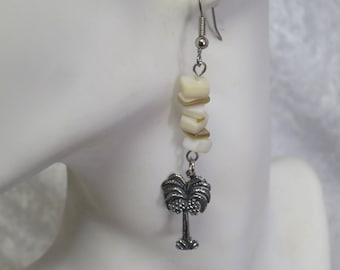 Palm earrings- Surgical steel posts