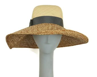 Wide Brim Hat Women, Straw Hat Women, Ladies Straw Hat, Summer Hat for Women, Panama Hat, Sun Hat, Millinery Hat, Derby Hats for Women