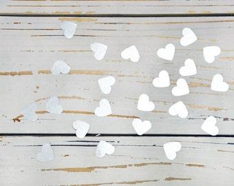 heart confett silver