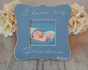 Grandma picture frame, custom picture frame, grandma gift, mother's day gift, personalized picture frame, kid's picture frame