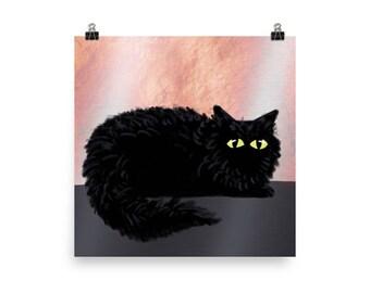 Black Cat Magic / Art Print