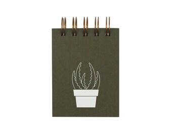 Mini Succulent Jotter - Notebook | Journal | Pocket Notebook | Spiral Bound | Blank Pages
