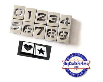 Silver Slider HoLLoW NUMBER CHaRMS for 8mm slide bracelets, collars, key rings and bracelets  +FREE Shipping & Discounts*