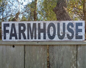 Farmhouse sign,7.25x46