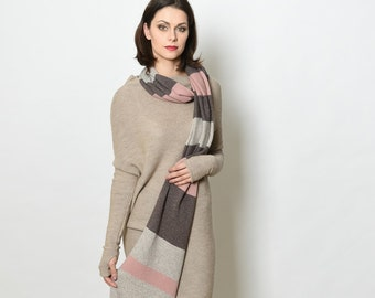 Cashmere scarf, cashmere shawl, cashmere wrap, wool scarf, winter scarf, women scarf, knit scarf, warm scarf, fashion scarf, gift for woman