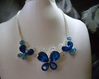 Butterfly statement sapphires set 3 pieces