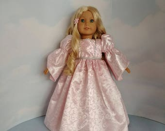 Light Pink Princess Gown 18 inch doll clothes