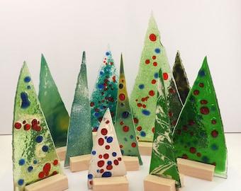 Small glass Christmas tree