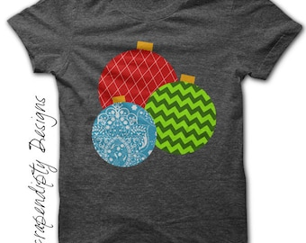 Ornament Iron on Shirt PDF - Christmas Iron on Transfer / Christmas Shirt / Infant Boys Girls Clothes / Toddler Kids Clothes Tops IT121