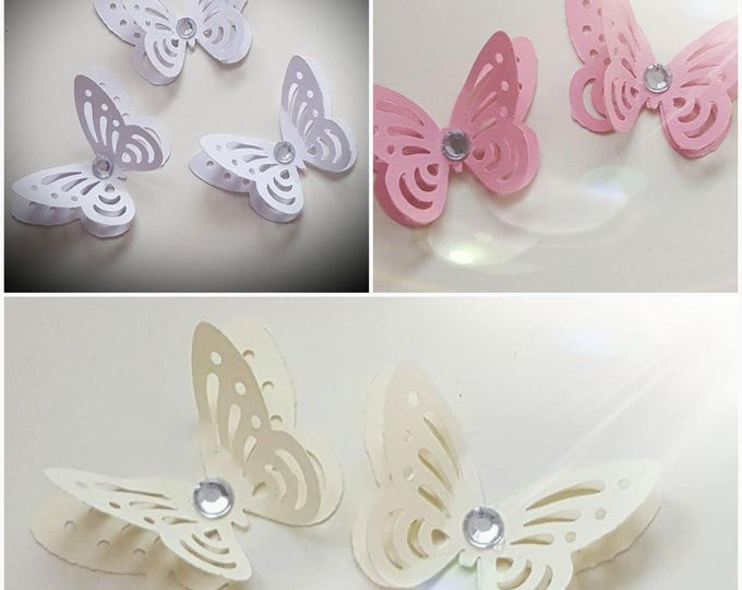 20 3D butterflies table confetti decoration baby shower wedding