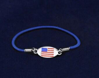 American Flag Stretch Bracelet (RE-B-55-PT)