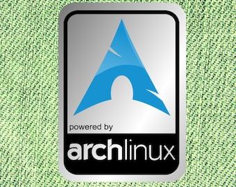 Aluminum Arch Linux Case Badge Sticker