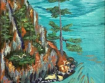 PENINSULA, Acrylic Painting [Seascape Art]