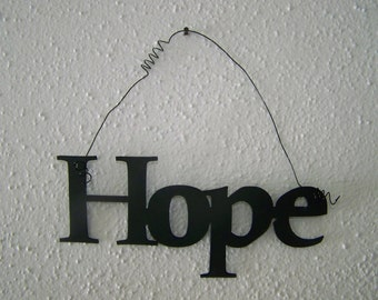 Inspirational Word HOPE Wall Hanging Home Decor Metal