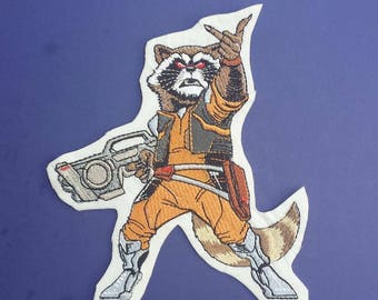 Rocket Raccoon patch, guardians of the galaxy patch