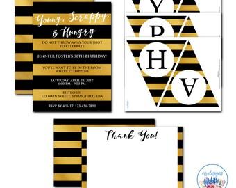 Hamilton Party Package, Hamilton Invitation, Hamilton the Musical, Editable Hamilton Invitation, Hamilton Birthday Party