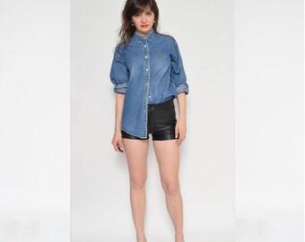 Vintage 90's Blue Denim Shirt