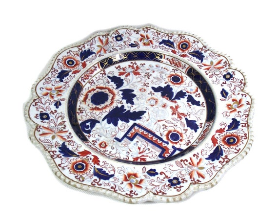 Antique Hicks and Meigh Imari Plate