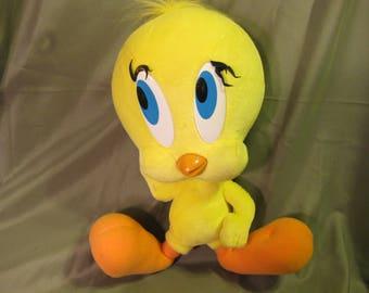 Vintage Stuffed Looney Tunes Tweety Bird 1994 Tyco Playtime