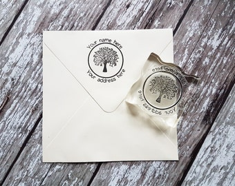 Custom address stamp tree, return address stamp, envelope stamp