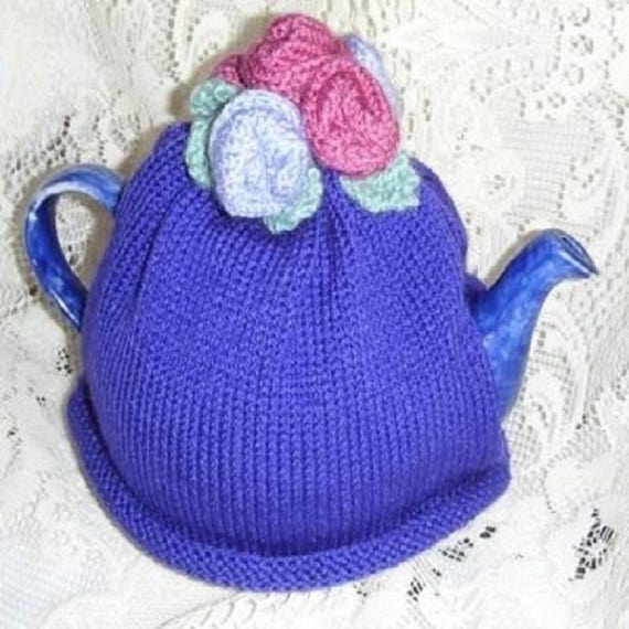 TEA COSY KNITTING Pattern Rose Tea Cosy Knitting Pattern