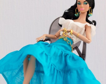 Ethnic outfit for Fashion Royalty, Nu face, Poppy Parker, Barbie (many colors)