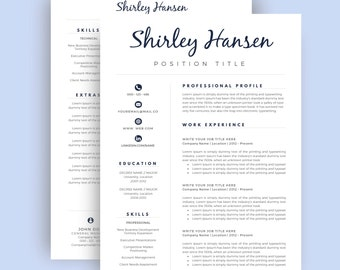 resume with cover page
