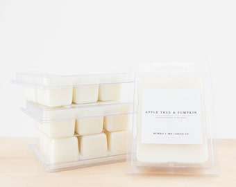 APPLE TREE & PUMPKIN Soy Wax Melts | Scented Soy Tarts, Soy Candle Melt, Scented Wax Cubes