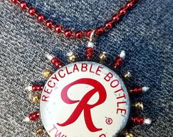 Rainier white cap sunburst pendant
