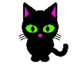 Black Cat Crochet Blanket Pattern (not just a grid!)