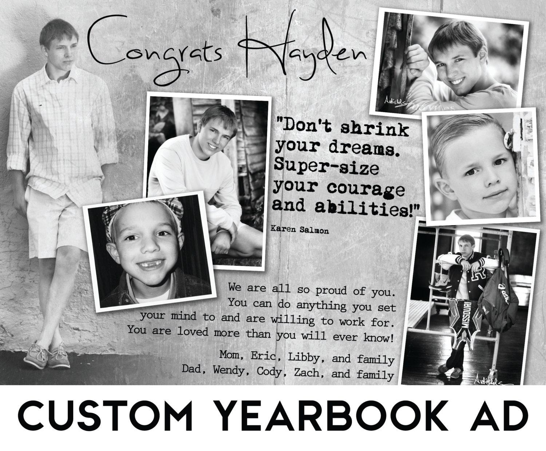Custom Senior Yearbook Ad w/ Design Consultation