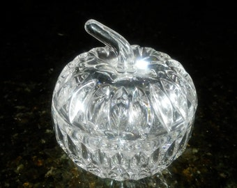 Vintage crystal dish with a top