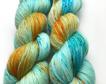 120g fingering weight sock yarn - Life in a Fish Bowl