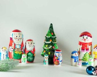 Christmas Nesting Dolls Set Christmas Gift