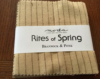 """Moda Charm Pack - """"Rites of Spring"""" (Flannel)"""