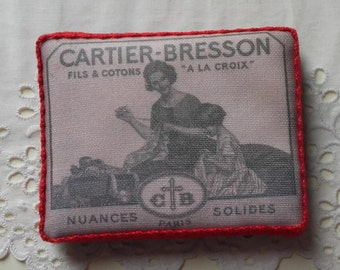 Old haberdashery embroidery sewing accessory Pincushion