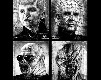 "Prints 8x10"" - Cenobites - Hellraiser Cenobite Horror Dark Art Needles Science Fiction Leviathan Box Hell Evil Monster Creature Clive Barker"