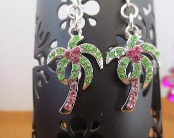 Palm tree dangle earrings