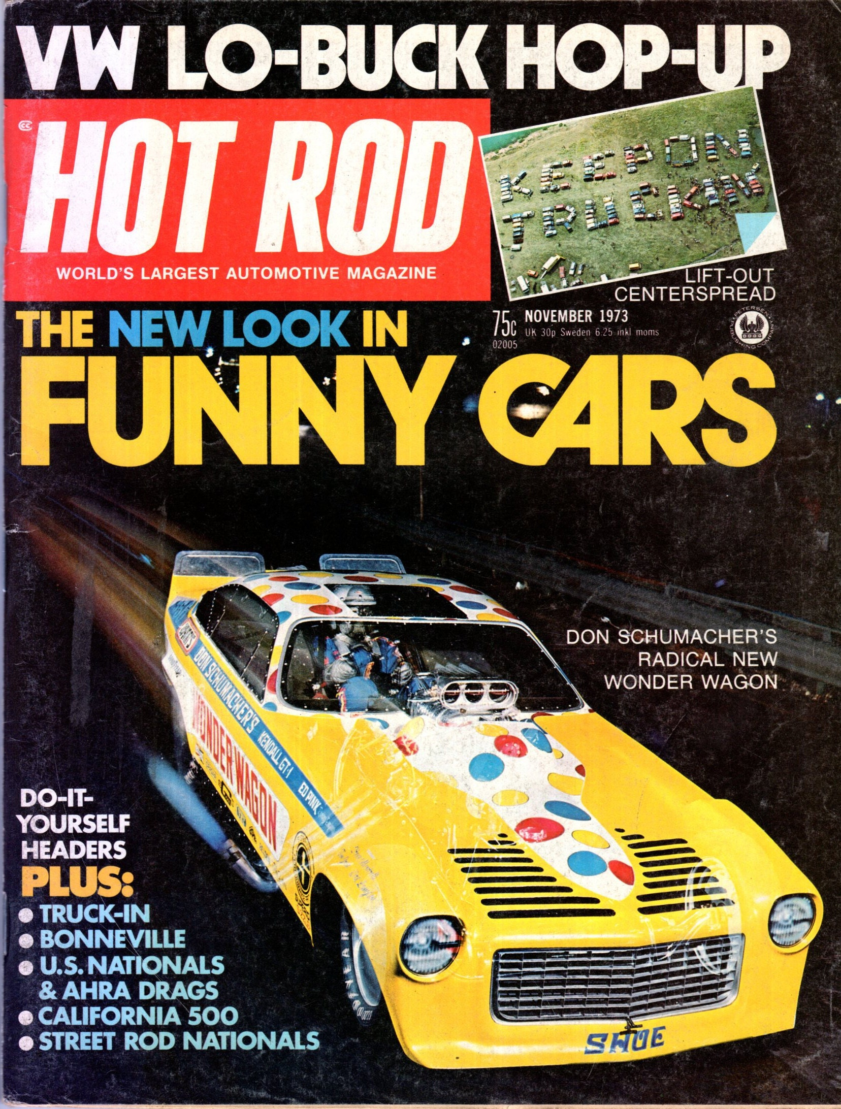Hot rod magazine november 1973 issue vw lo buck hop up the new zoom solutioingenieria Images